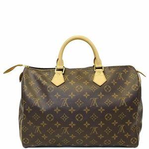 LOUIS VUITTON Speedy 35 Monogram Satchel Bag
